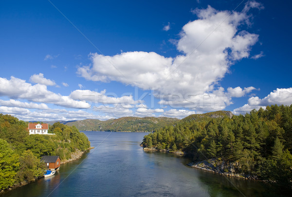 landscape of Southern Norway Stock photo © phbcz