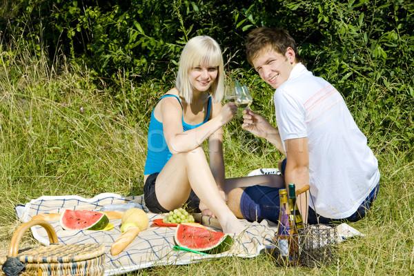 couple at a picnic Stock photo © phbcz
