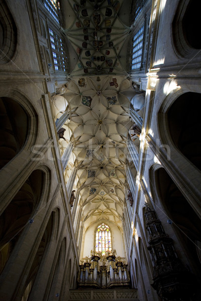interior of Cathedral of St. Barbara, Kutna Hora, Czech Republic Stock photo © phbcz