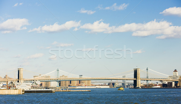 Brooklyn Bridge and Manhattan Bridge, New York City, USA Stock photo © phbcz
