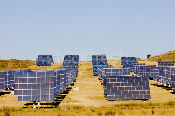 Stock photo: solar panels, Extremadura, Spain
