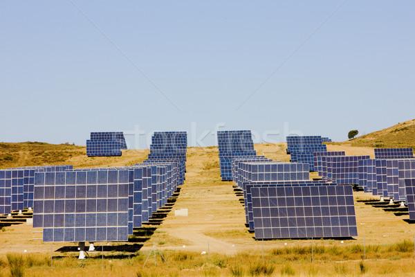 solar panels, Extremadura, Spain Stock photo © phbcz