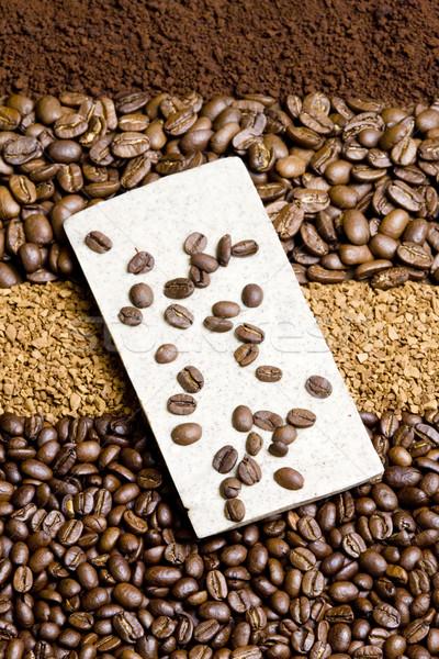 Koffie chocolade achtergrond interieur dranken grond Stockfoto © phbcz