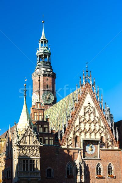 Mairie principale marché carré Pologne bâtiment Photo stock © phbcz