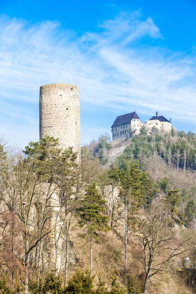 Kastelen Tsjechische Republiek kasteel architectuur geschiedenis buitenshuis Stockfoto © phbcz