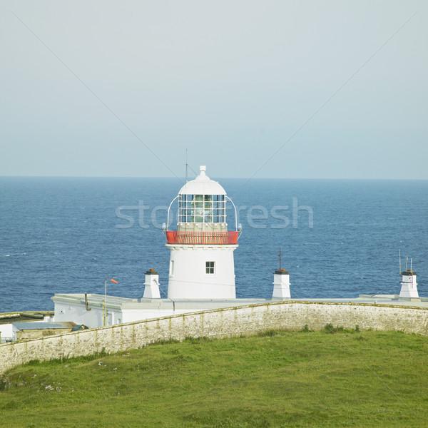 ストックフォト: 灯台 · ポイント · アイルランド · 建物 · 光 · 海