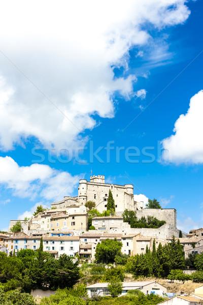 Franciaország kastély építészet Európa város kívül Stock fotó © phbcz