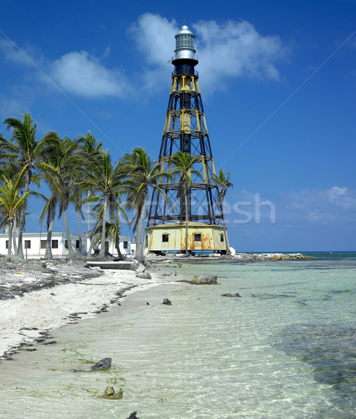 lighthouse, Cayo Jut Stock photo © phbcz