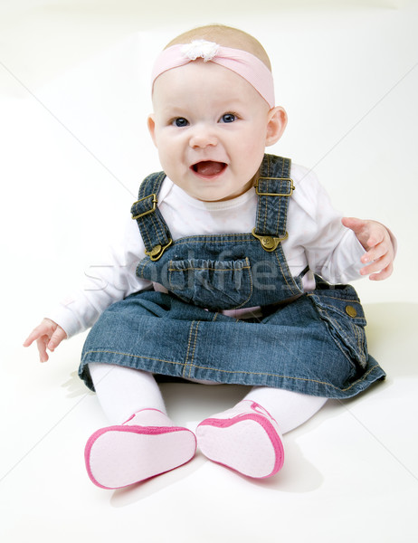 Stock photo: sitting baby girl