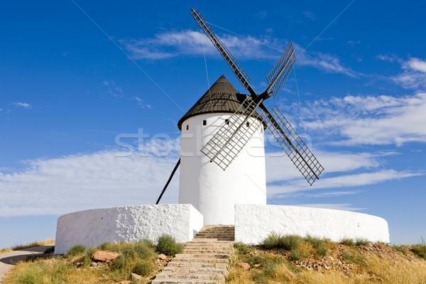 Windmolen san juan Spanje molen outdoor een Stockfoto © phbcz