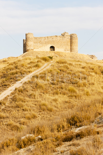 castle near Villar de la Encina, Castile-La Mancha, Spain Stock photo © phbcz