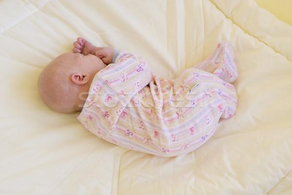 Slapen baby kinderen kind meisjes kid Stockfoto © phbcz