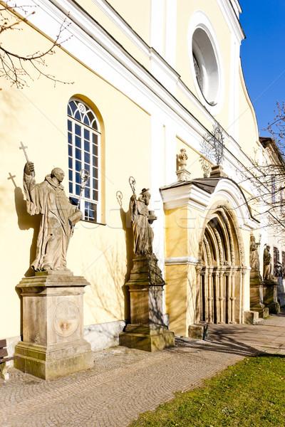 Kerk maagd onderstelling politie Tsjechische Republiek gebouw Stockfoto © phbcz