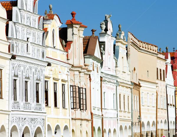 renaissance houses in Telc, Czech Republic Stock photo © phbcz