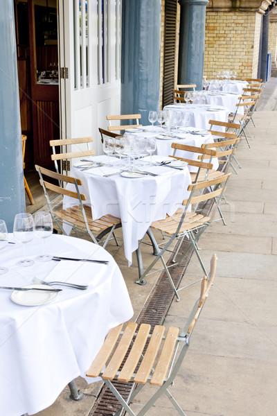 Restaurant Londen groot-brittannië Stockfoto © phbcz