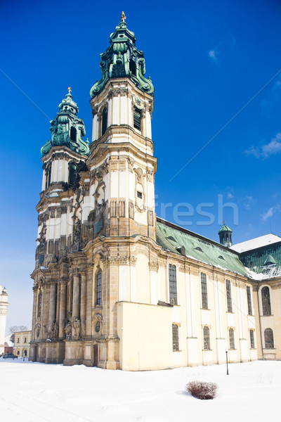 Bedevaart kerk Polen gebouw architectuur geschiedenis Stockfoto © phbcz