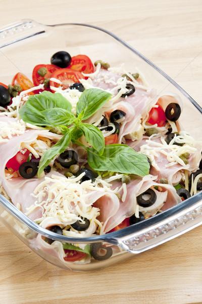 Сток-фото: ветчиной · куриные · мяса · маслины · продовольствие