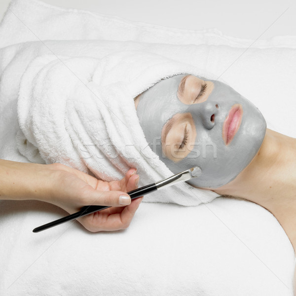 woman with facial mask Stock photo © phbcz