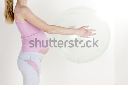 Stock photo: pregnat woman doing exercises