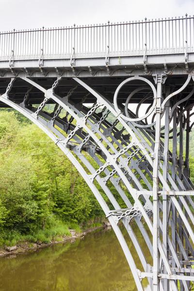 Inglaterra metal ponte viajar rio arquitetura Foto stock © phbcz