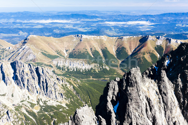 view to Belianske Tatras from Lomnicky Peak, Slovakia Stock photo © phbcz