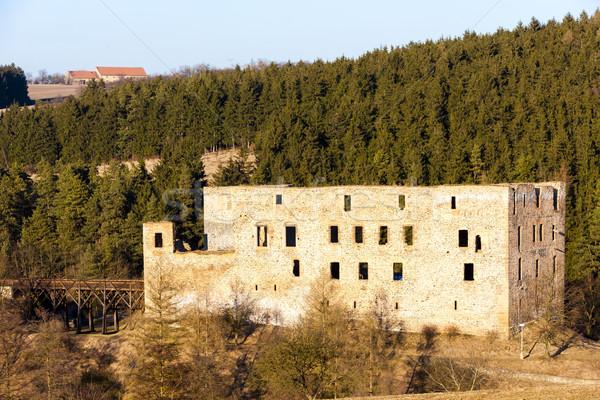 ruins of Krakovec Castle, Czech Republic Stock photo © phbcz
