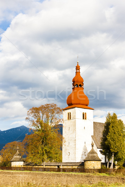 fortified church in Liptovske Matiasovce, Slovakia Stock photo © phbcz
