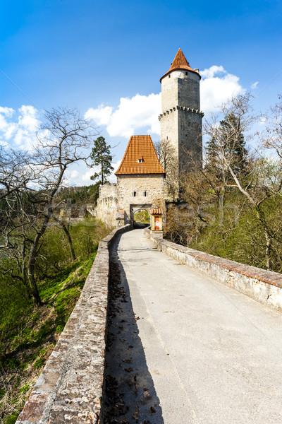Château République tchèque Voyage architecture histoire tour Photo stock © phbcz