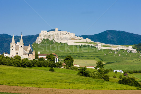 Capítulo castillo Eslovaquia edificio arquitectura historia Foto stock © phbcz