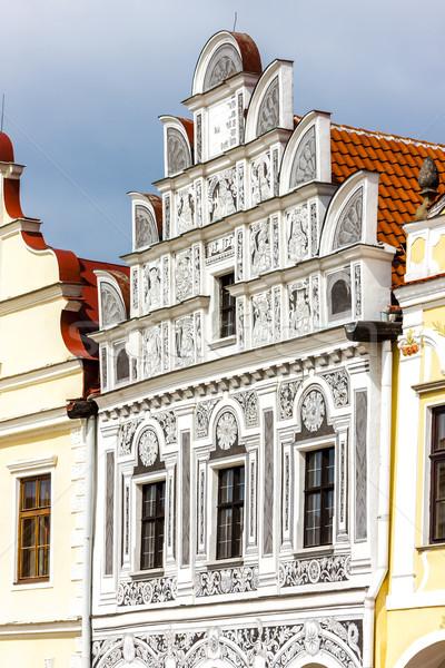 Casas República Checa edificio ciudad arquitectura Europa Foto stock © phbcz