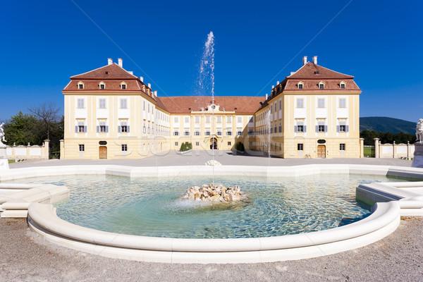 Palace Hof with a fountain, Lower Austria, Austria Stock photo © phbcz