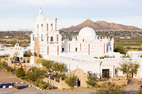 San Xavier del Bac Mission, Arizona, USA Stock photo © phbcz