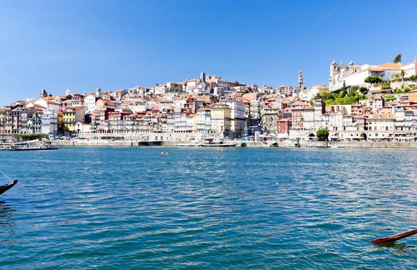 ポルトガル 建物 市 川 アーキテクチャ 歴史 ストックフォト © phbcz