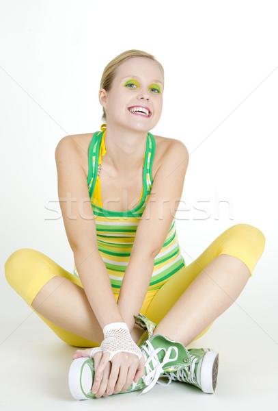 sitting woman Stock photo © phbcz