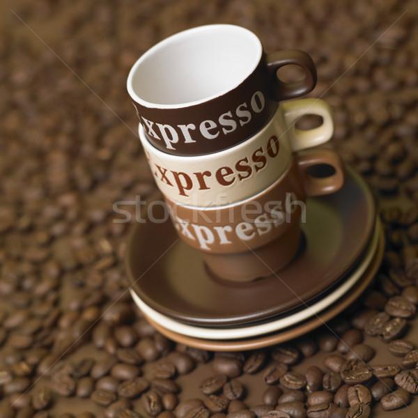 кофе натюрморт продовольствие пить интерьер боб Сток-фото © phbcz