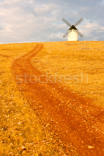 Windmolen san juan Spanje gebouw architectuur pad Stockfoto © phbcz