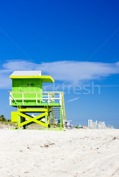 cabin on the beach, Miami Beach, Florida, USA Stock photo © phbcz