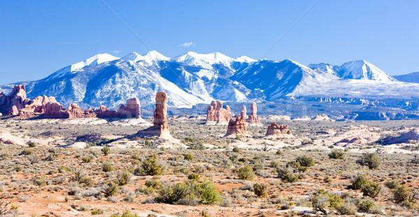 Arches National Park with La Sal Mountains, Utah, USA Stock photo © phbcz