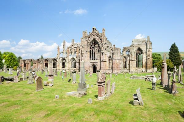 ruins of Melrose Abbey, Scottish Borders, Scotland Stock photo © phbcz