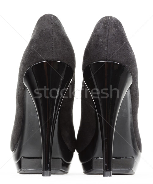 back view of black pumps Stock photo © phbcz