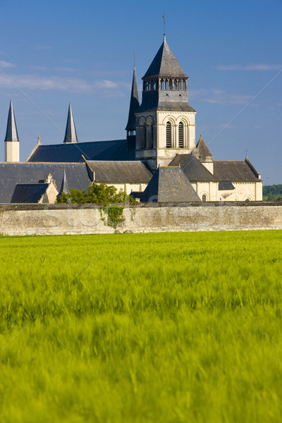Fontevraud Abbey, Loire Valley, France Stock photo © phbcz
