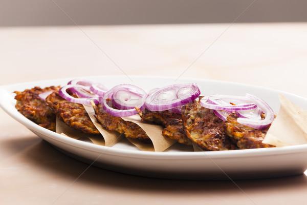 potato cakes with minced meat Stock photo © phbcz