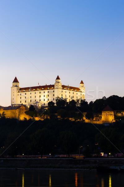Bratislava castelo noite Eslováquia cidade viajar Foto stock © phbcz
