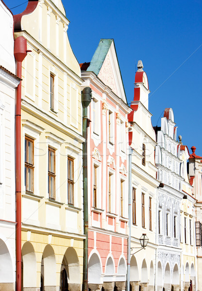 renaissance houses in Telc, Czech Republic Stock photo © phbcz
