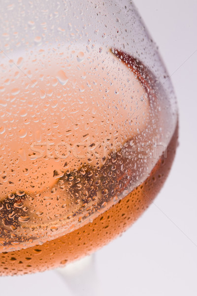 wineglass with ros Stock photo © phbcz