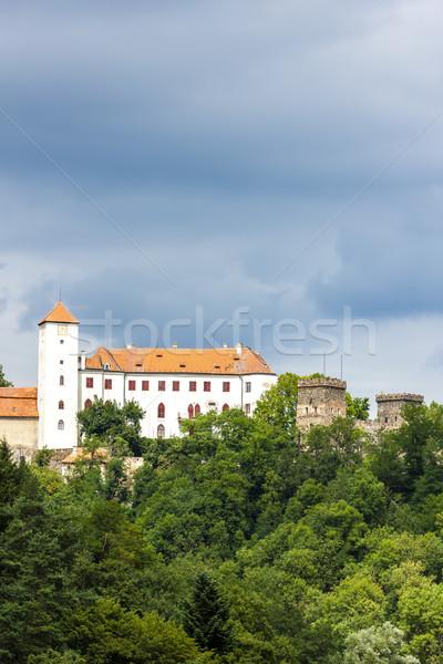 Zamek Czechy podróży architektury odkryty na zewnątrz Zdjęcia stock © phbcz