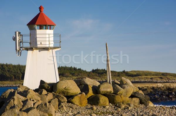 lighthouse, Borhaug, Norway Stock photo © phbcz