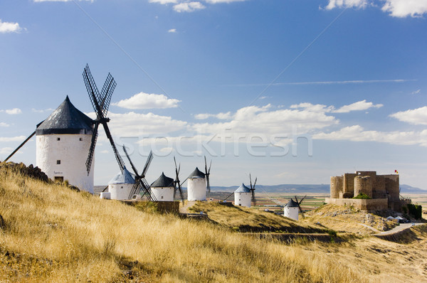 Zamek Hiszpania podróży architektury wiatrak młyn Zdjęcia stock © phbcz
