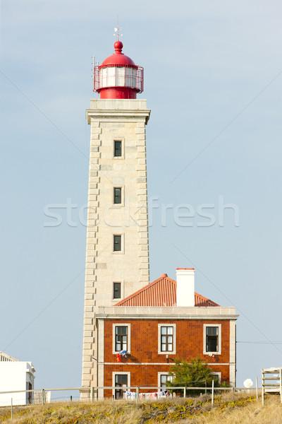 Vuurtoren Portugal gebouw architectuur buitenshuis symbool Stockfoto © phbcz