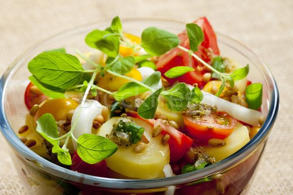 French potato salad Stock photo © phbcz
